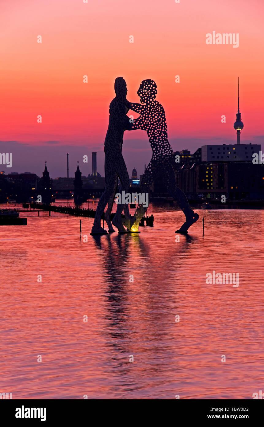 Molécula hombres berlin skyline Foto de stock
