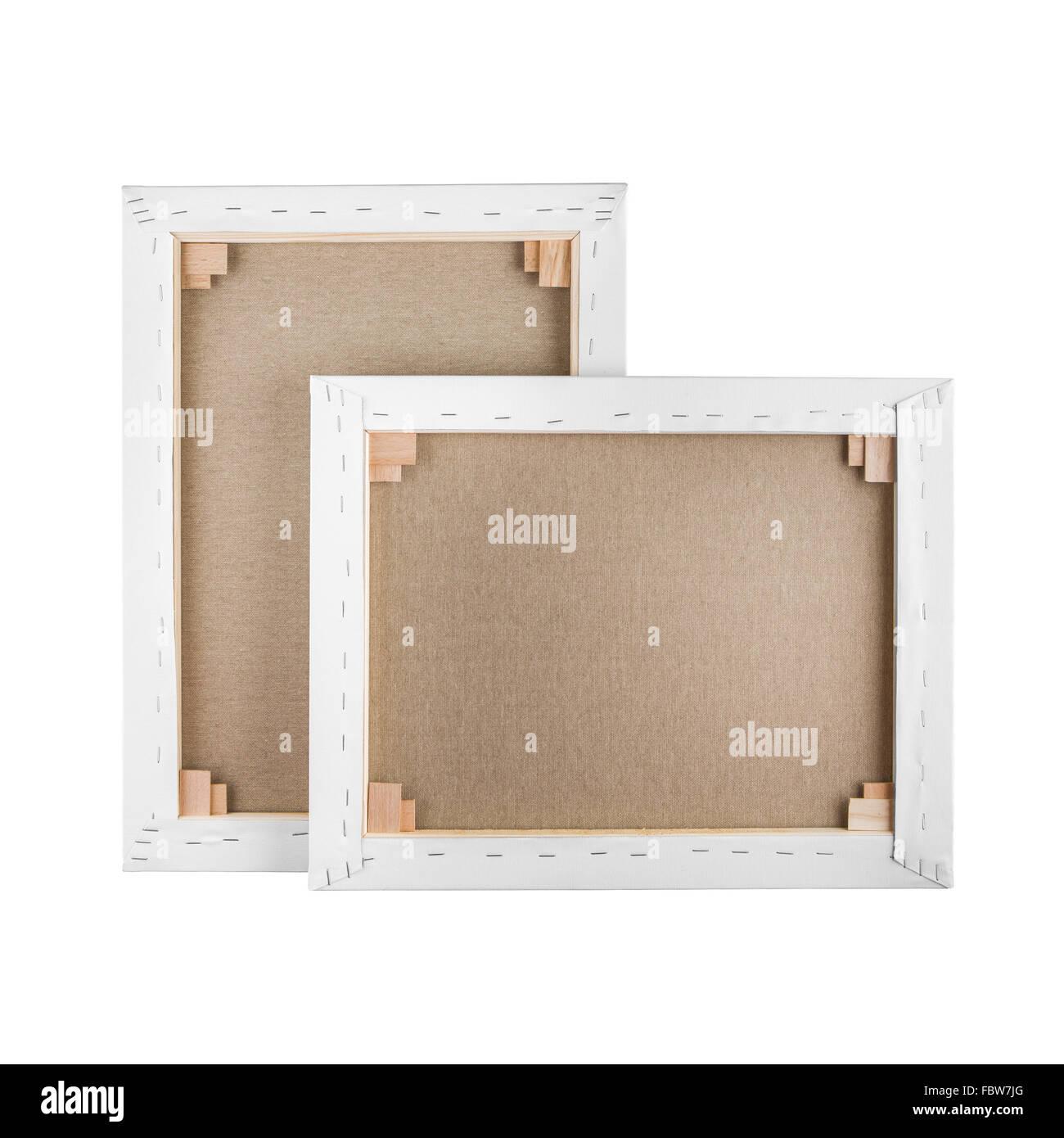 Galería envuelto lienzo en blanco en el marco de madera - Camilla ...