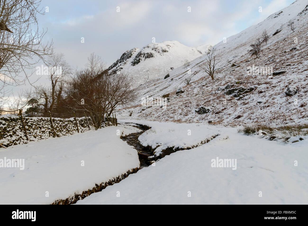 En la zona de Lake District Patterdale Foto de stock
