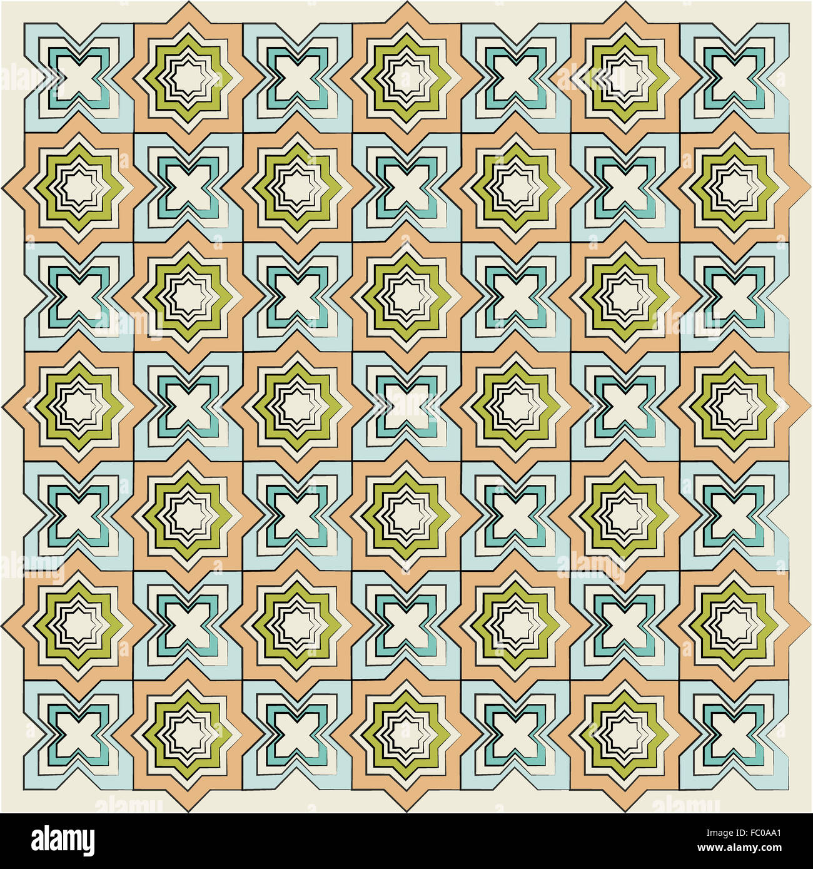 Textura lineal versión islámica Imagen De Stock