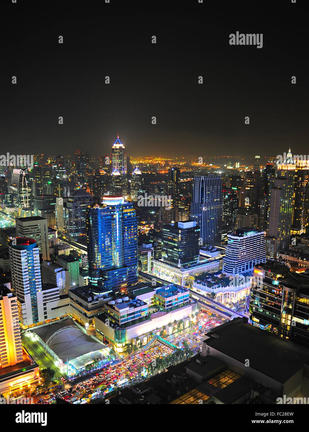 El centro de la ciudad de Bangkok, Tailandia Imagen De Stock