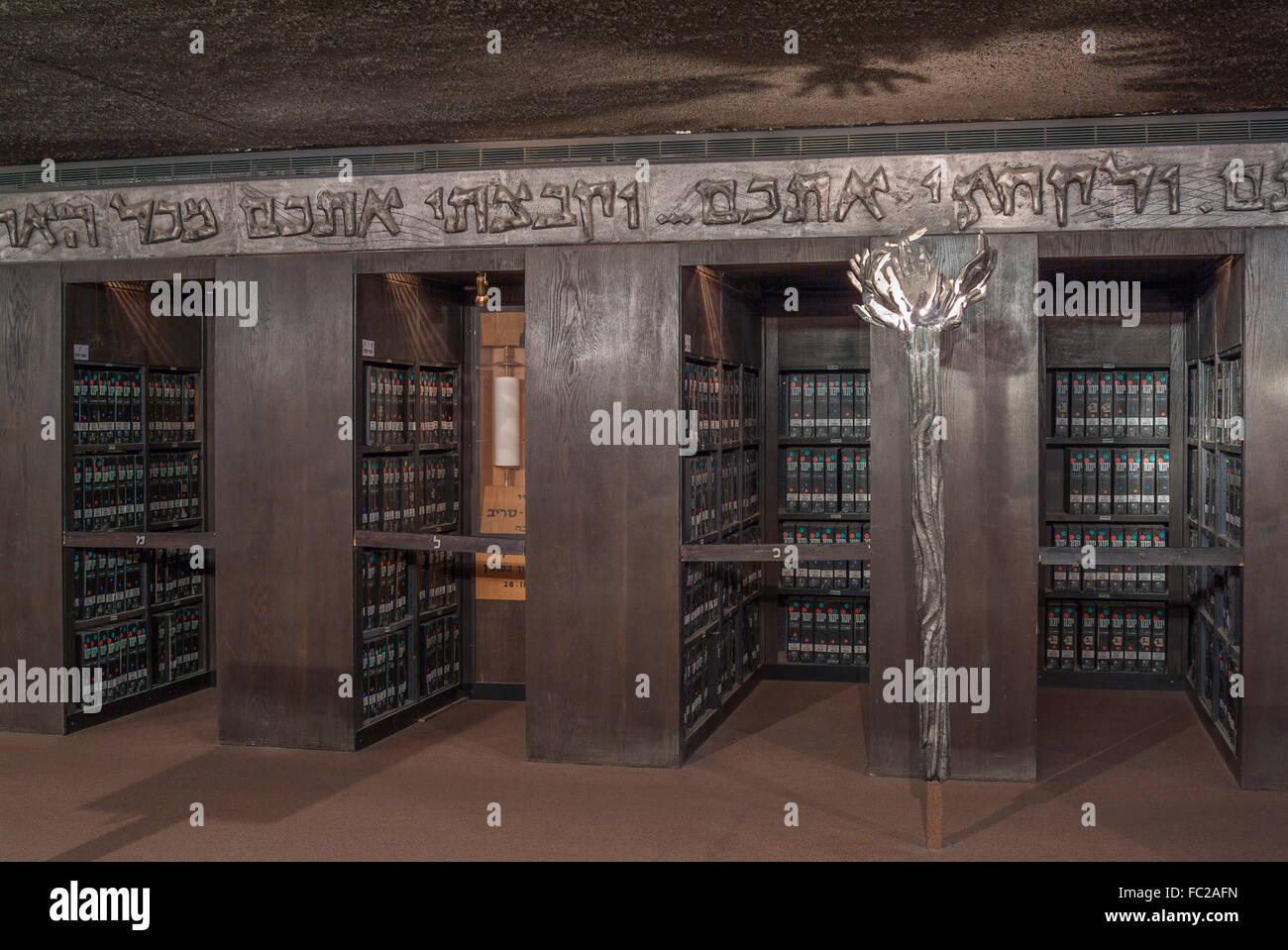 Archivar, memorial de Yad Vashem, Jerusalem, Israel Imagen De Stock