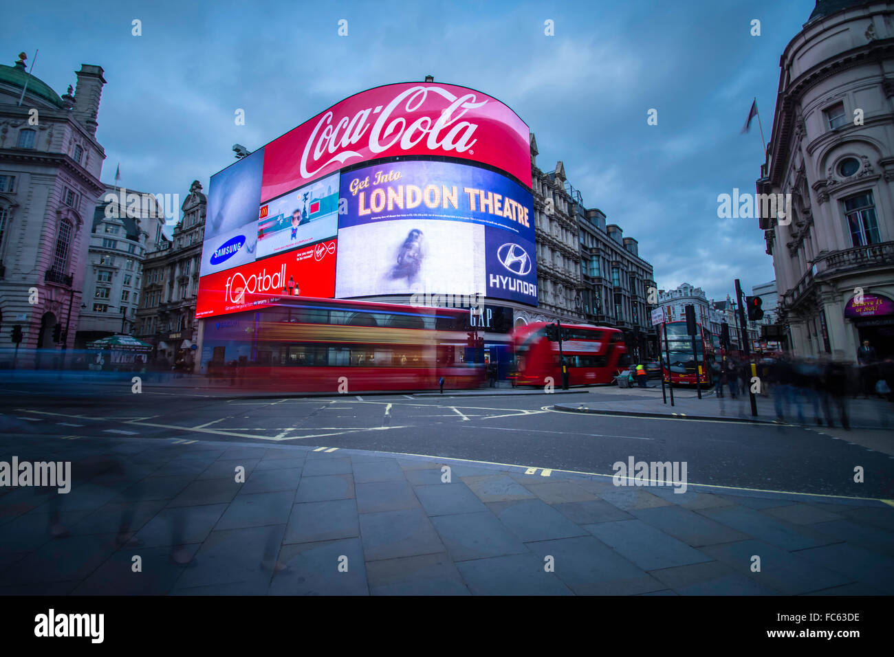 Piccadilly Circus, Londres Foto de stock