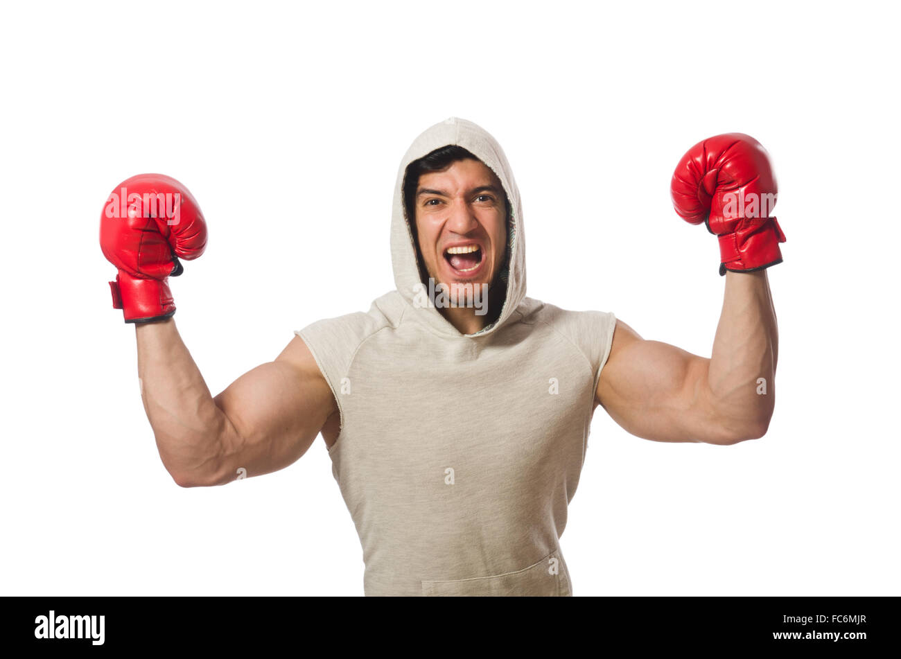 Concepto de boxeo con la joven deportista Imagen De Stock