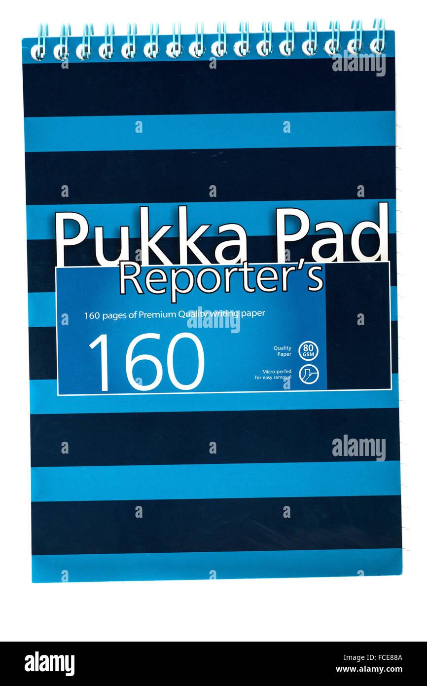 Reporteros Pukka pad Imagen De Stock