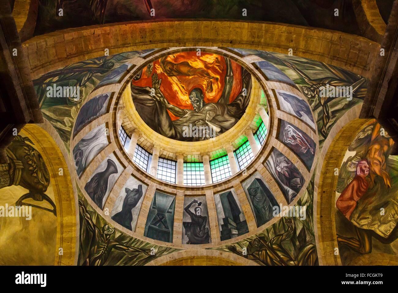 Alegoria Del Hombre De Fuego 1936 39 El Monumental Fresco De Jose