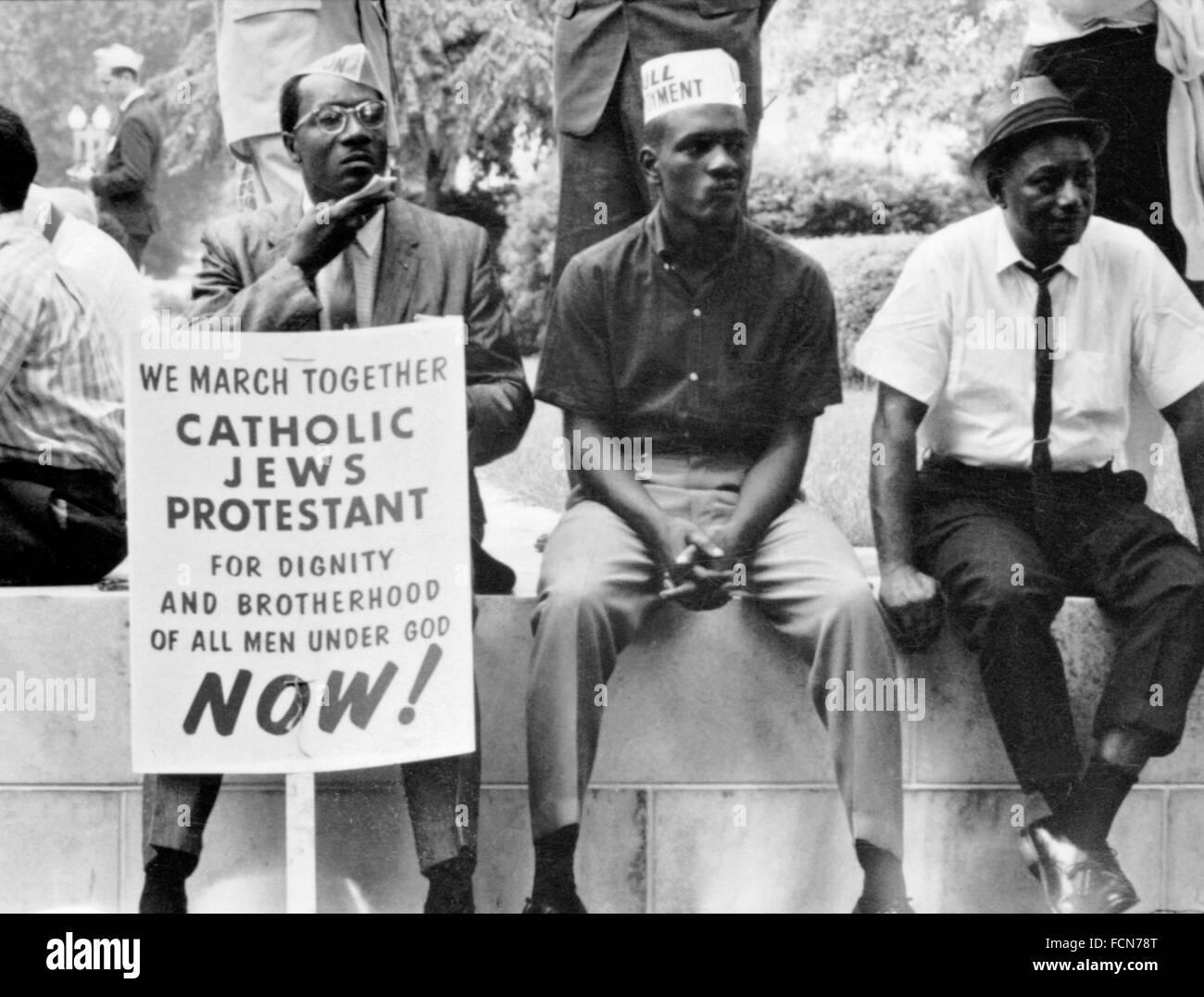 Selma marzo 1965. Los participantes en el Selma a Mongomery marchas en 1965, Selma, Alabama, EE.UU. Imagen De Stock