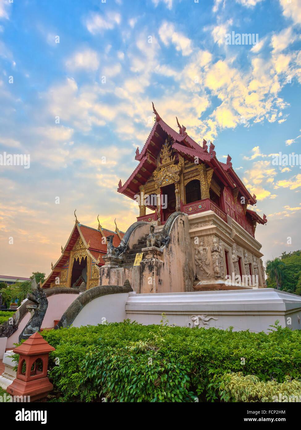 Wat Phra Singh en Chiang Mai, Tailandia Foto de stock