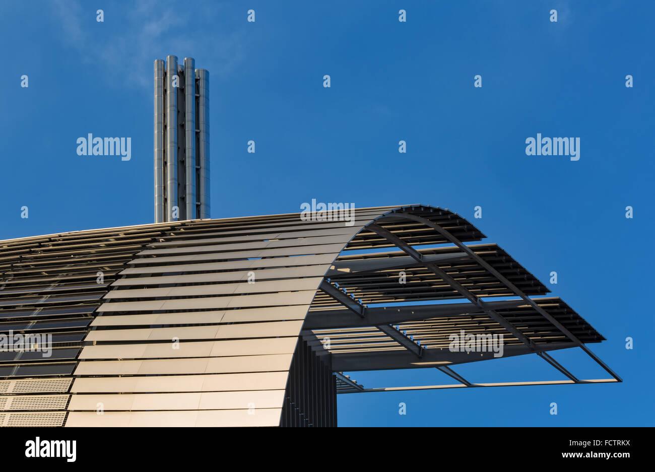 Francis Crick Instituto en Midland Road, St Pancras, Londres, diseñado por los arquitectos HOK con arquitectura Imagen De Stock