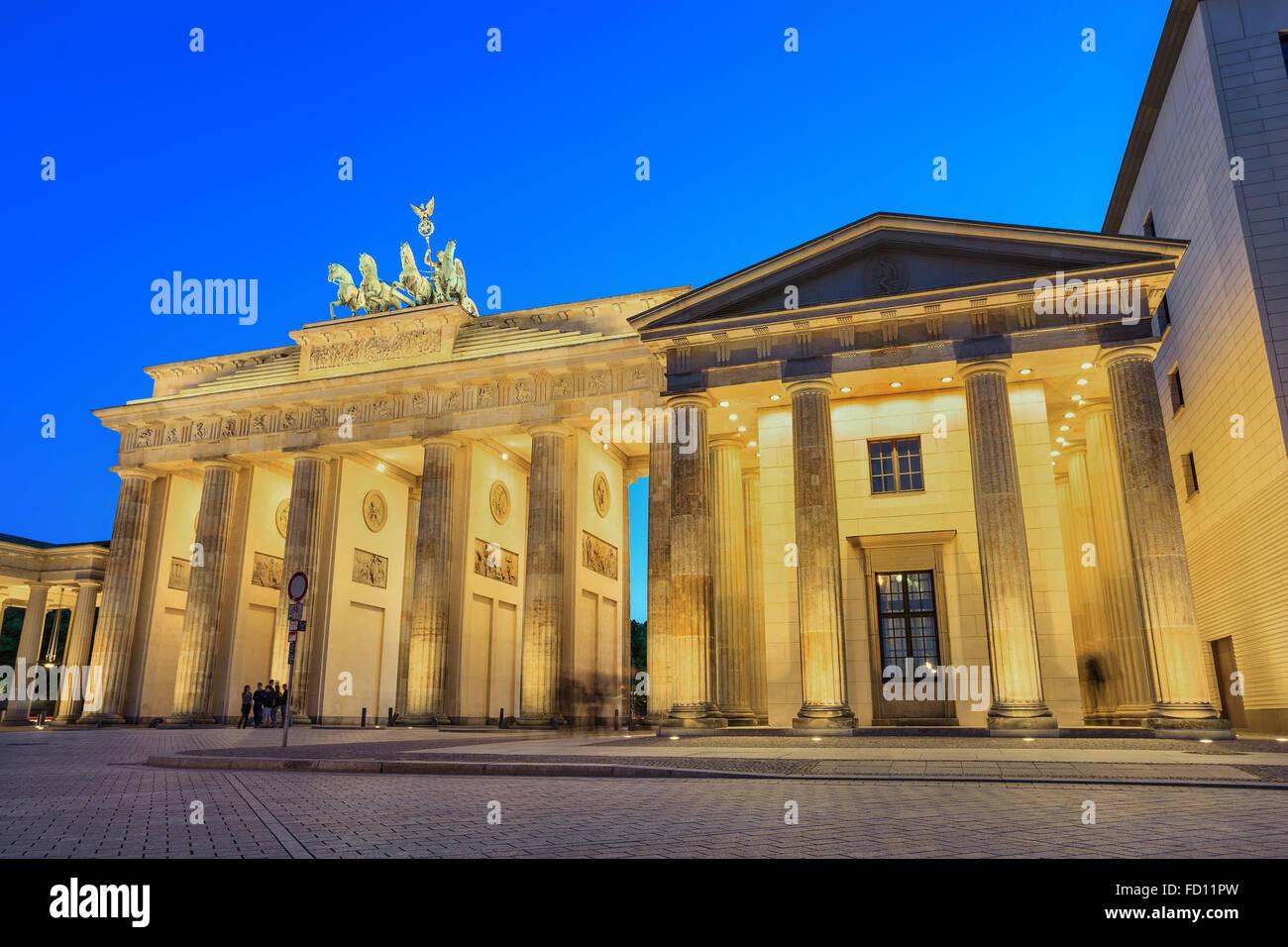 Puerta de Brandenburgo , Berlín , Alemania Imagen De Stock