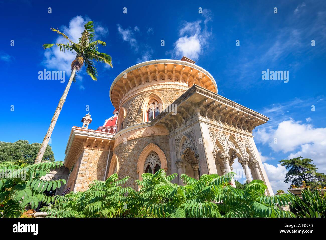 En Sintra (Portugal), el Palacio de Monserrate. Foto de stock