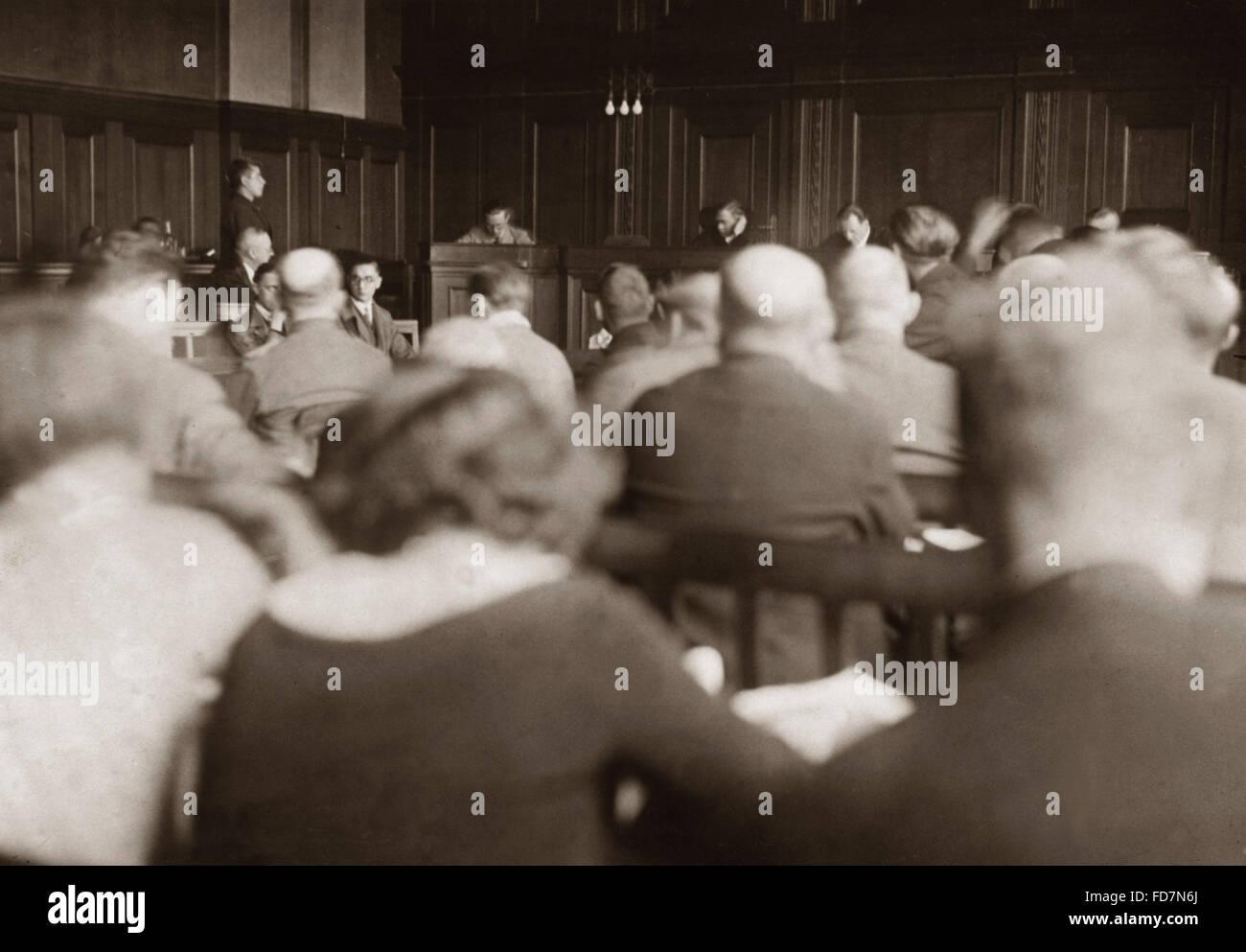 Los nacionalsocialistas en un juicio sumario, 1931 Imagen De Stock