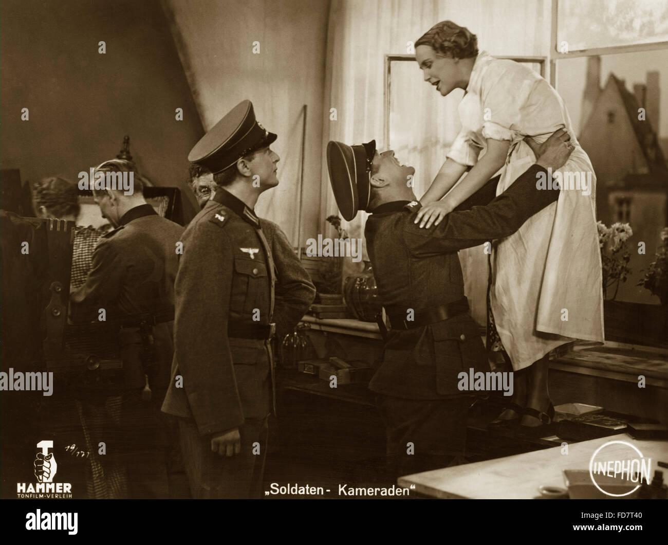 """Escena de 'Soldier Camaradas"""", 1936 Imagen De Stock"""