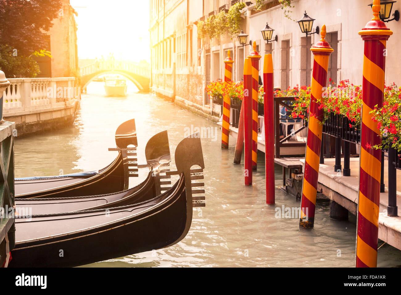 La góndola en Venecia. Imagen De Stock