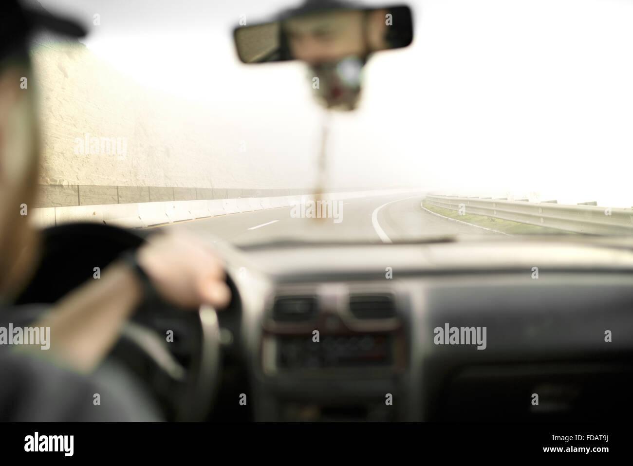 Conducir en un viaje por carretera a lo largo de la costa de Baja California Imagen De Stock