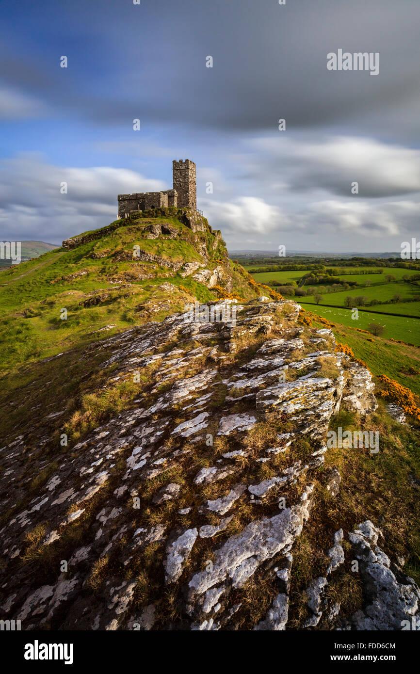 Brent Tor iglesia en West Devon. Imagen De Stock