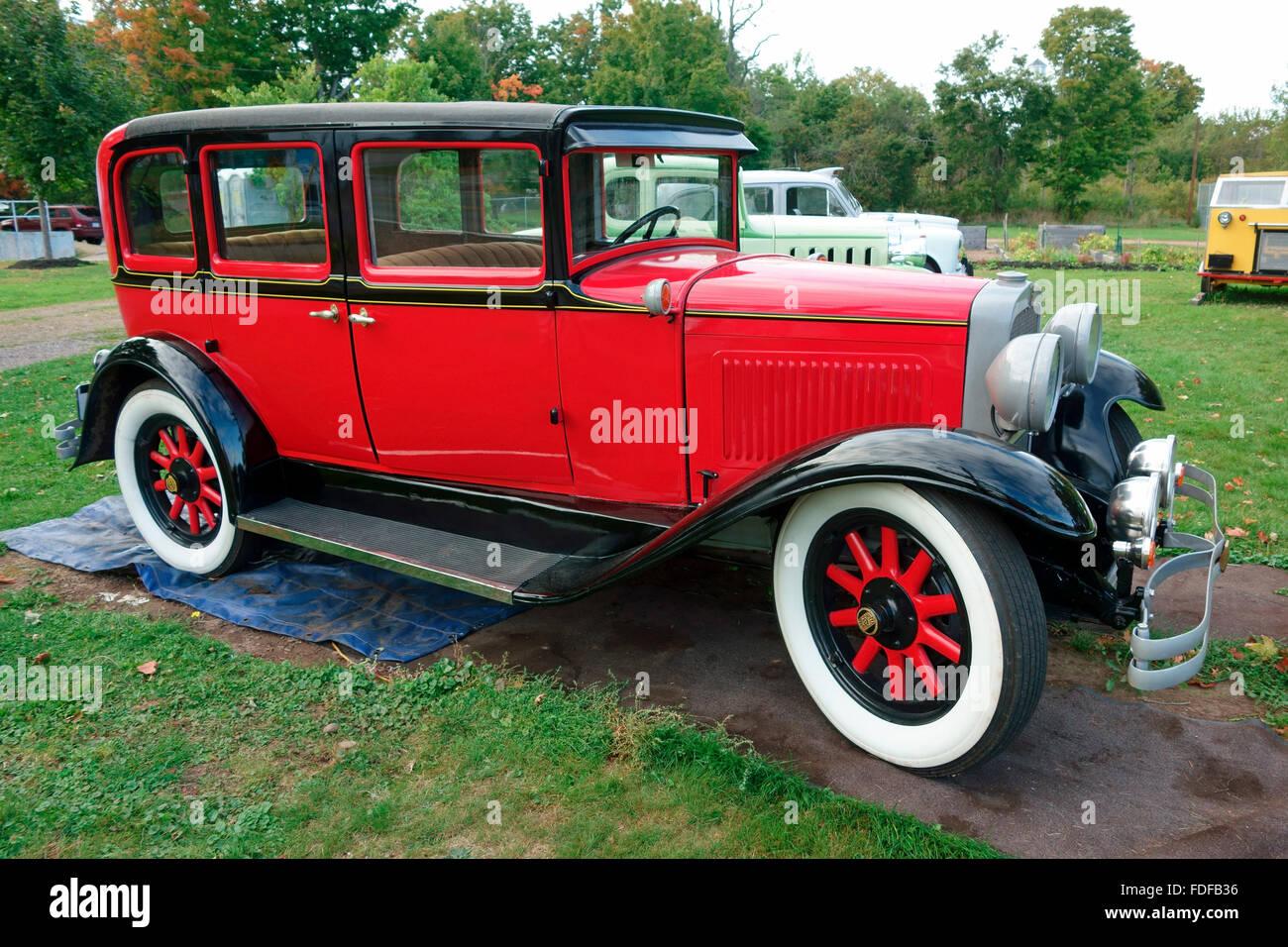 Una plaza Nash 1929-back del automóvil Coche sedán Imagen De Stock