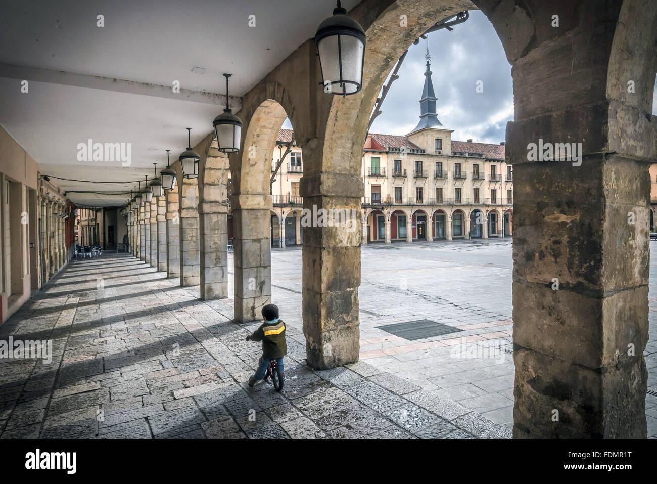 Provincia de León - Camino de Santiago de Compostela Imagen De Stock