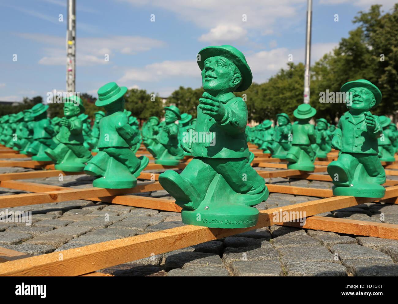 En Schwerin, Alemania, el arte de los límites del proyecto superar Ottmar Hoerl Imagen De Stock