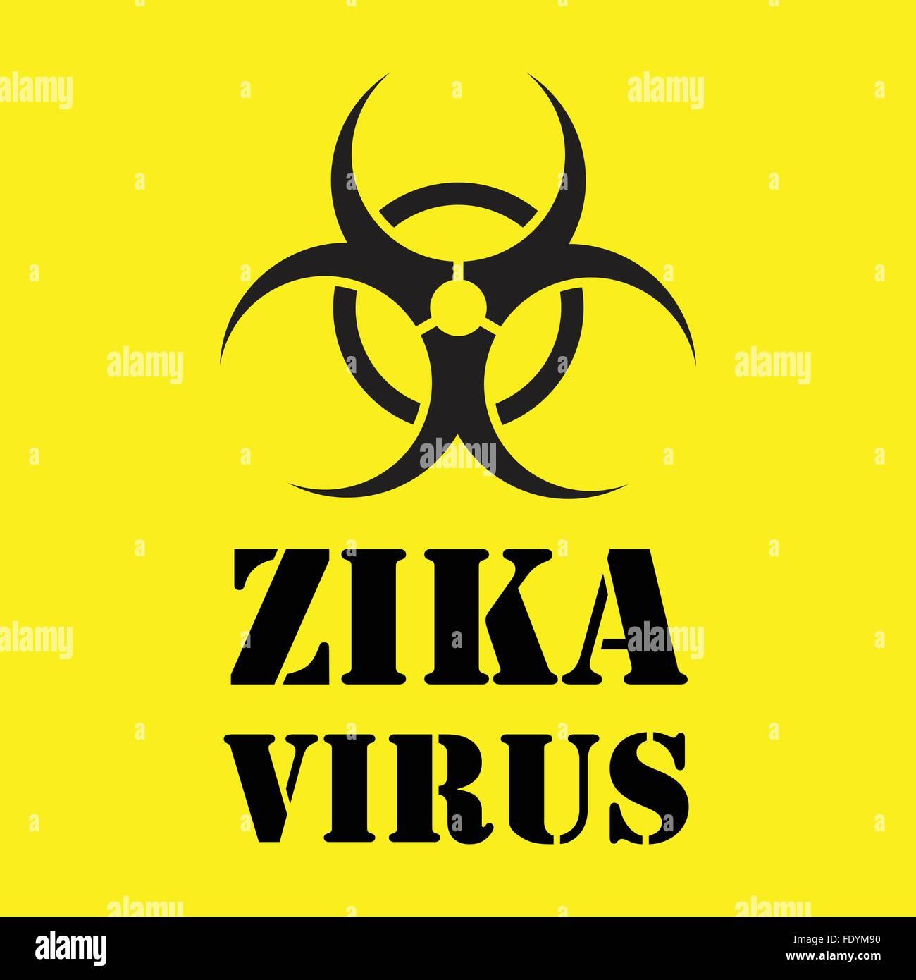Productos precio razonable estilo de moda EPS10] virus zika signo de advertencia sobre fondo amarillo ...
