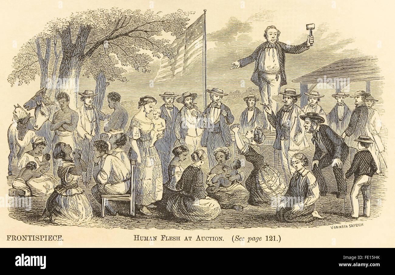 db12132fa3c2 Frontispicio  carne humana en subasta  Desde  El libro sobre la esclavitud  suprimida!