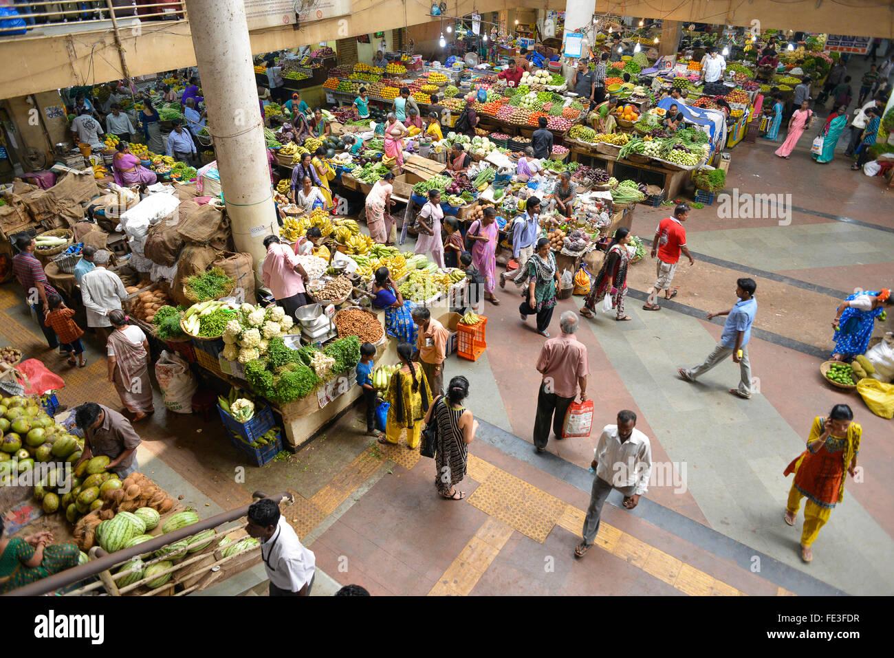 La India Goa mercado de fruta y verdura en Panaji Foto de stock