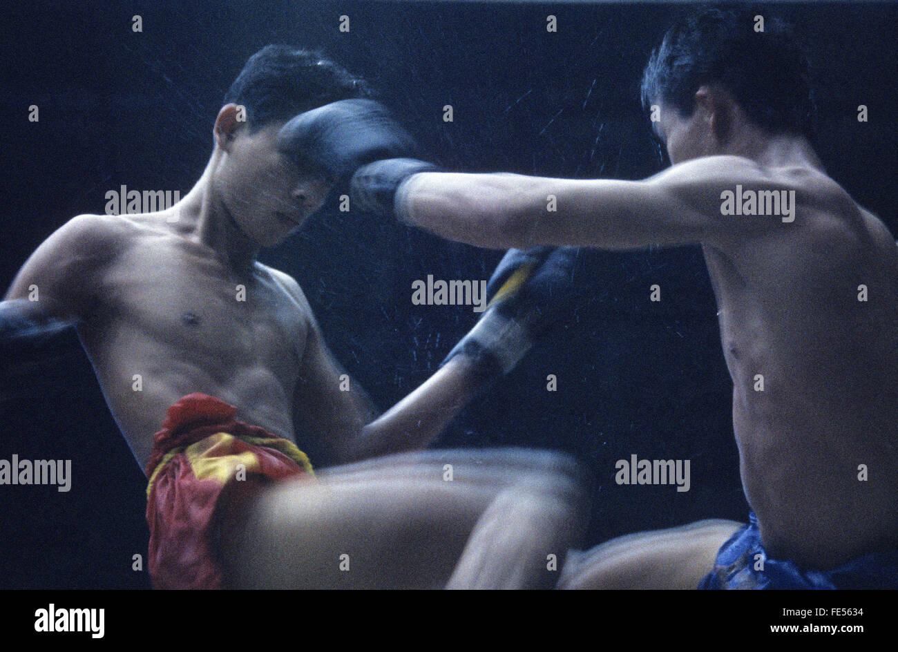 Tailandia Bangkok, Thai-Boxing, deporte, Imagen De Stock