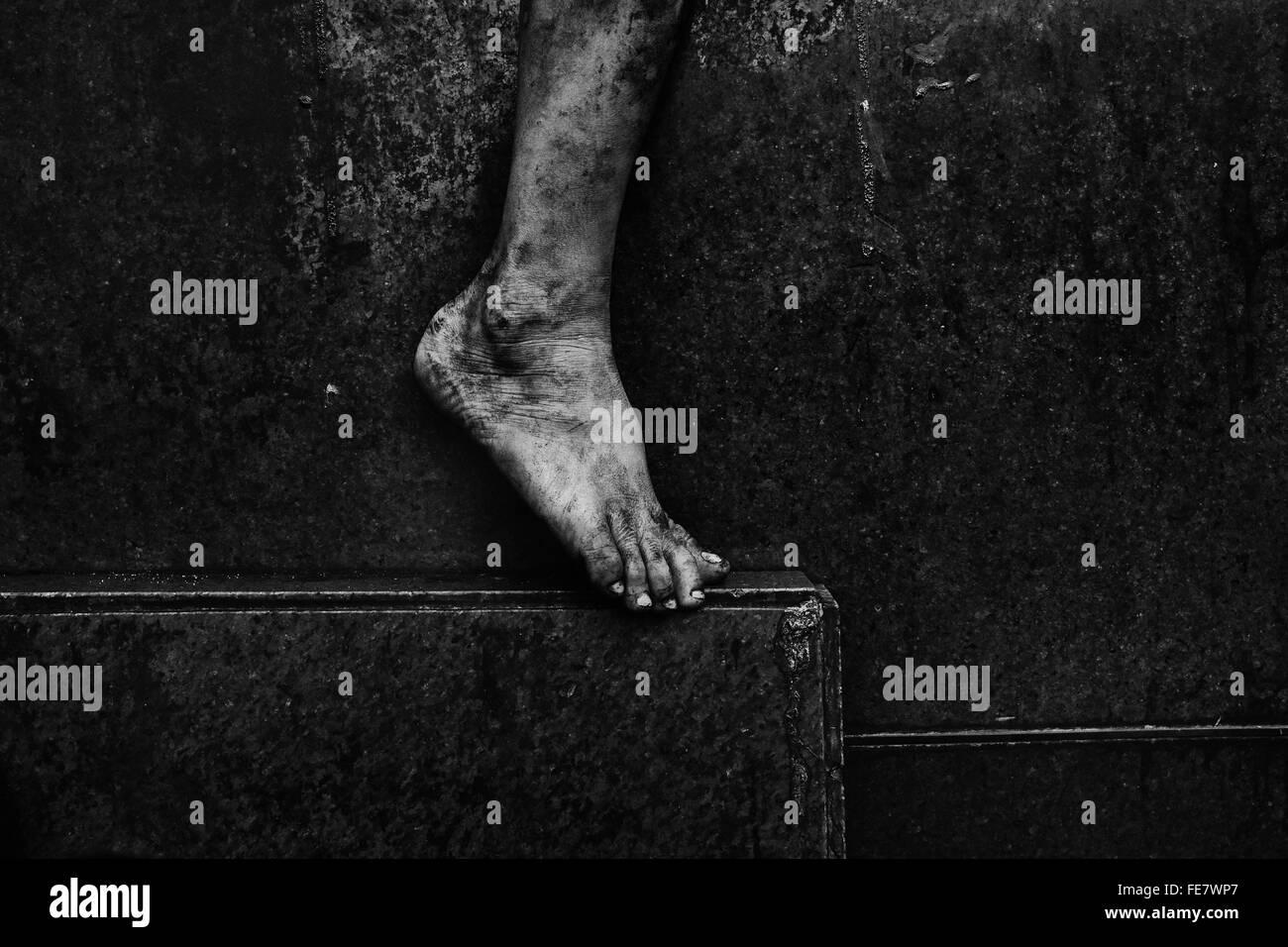 Bajo la sección de Barefoot Imagen De Stock