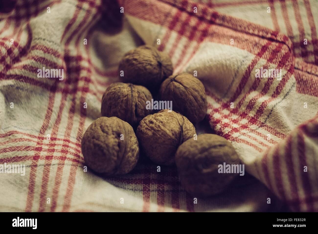 Primer plano de nueces Imagen De Stock