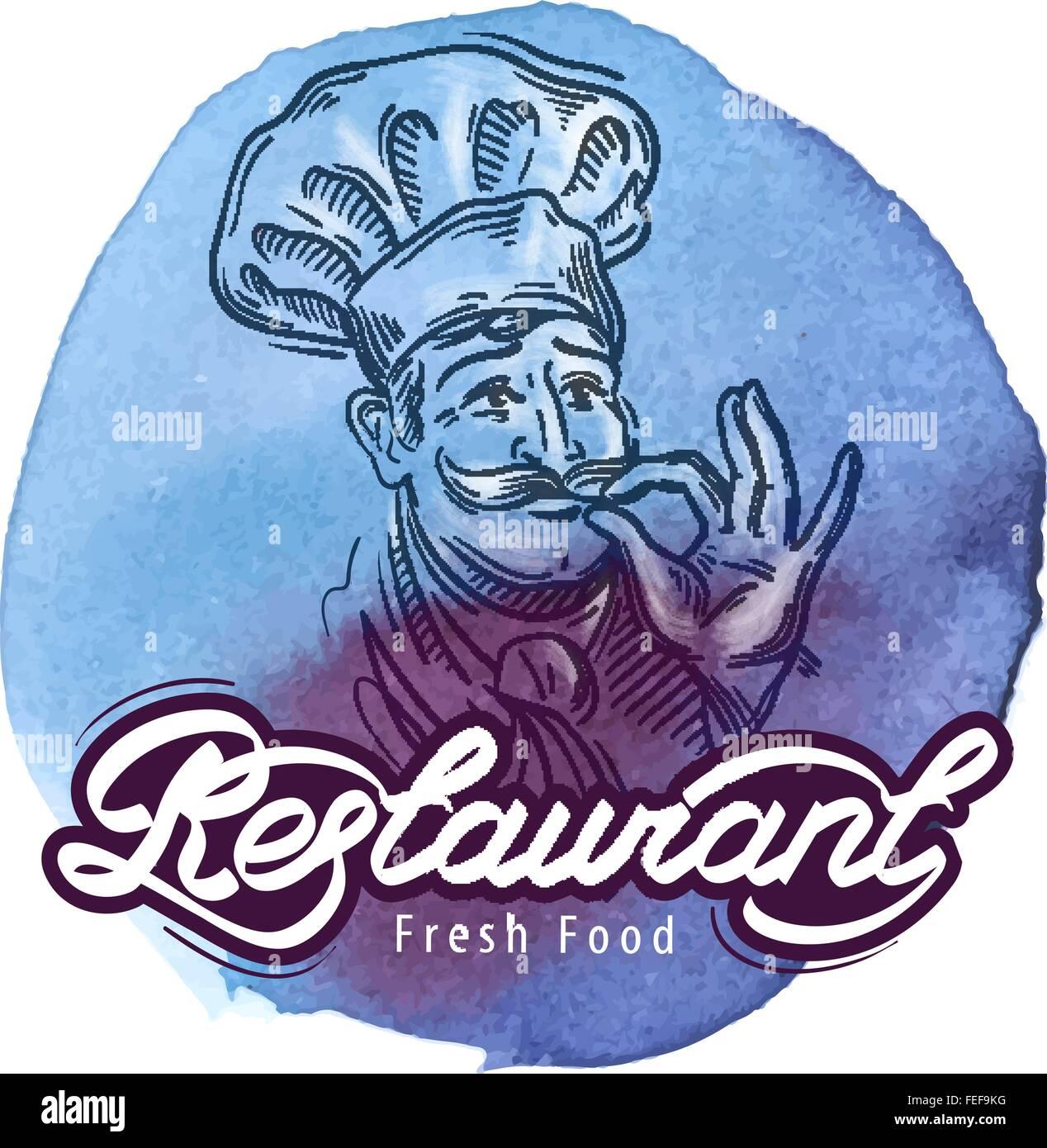Restaurante vector logo plantilla de diseño cocina cocina o icono ...