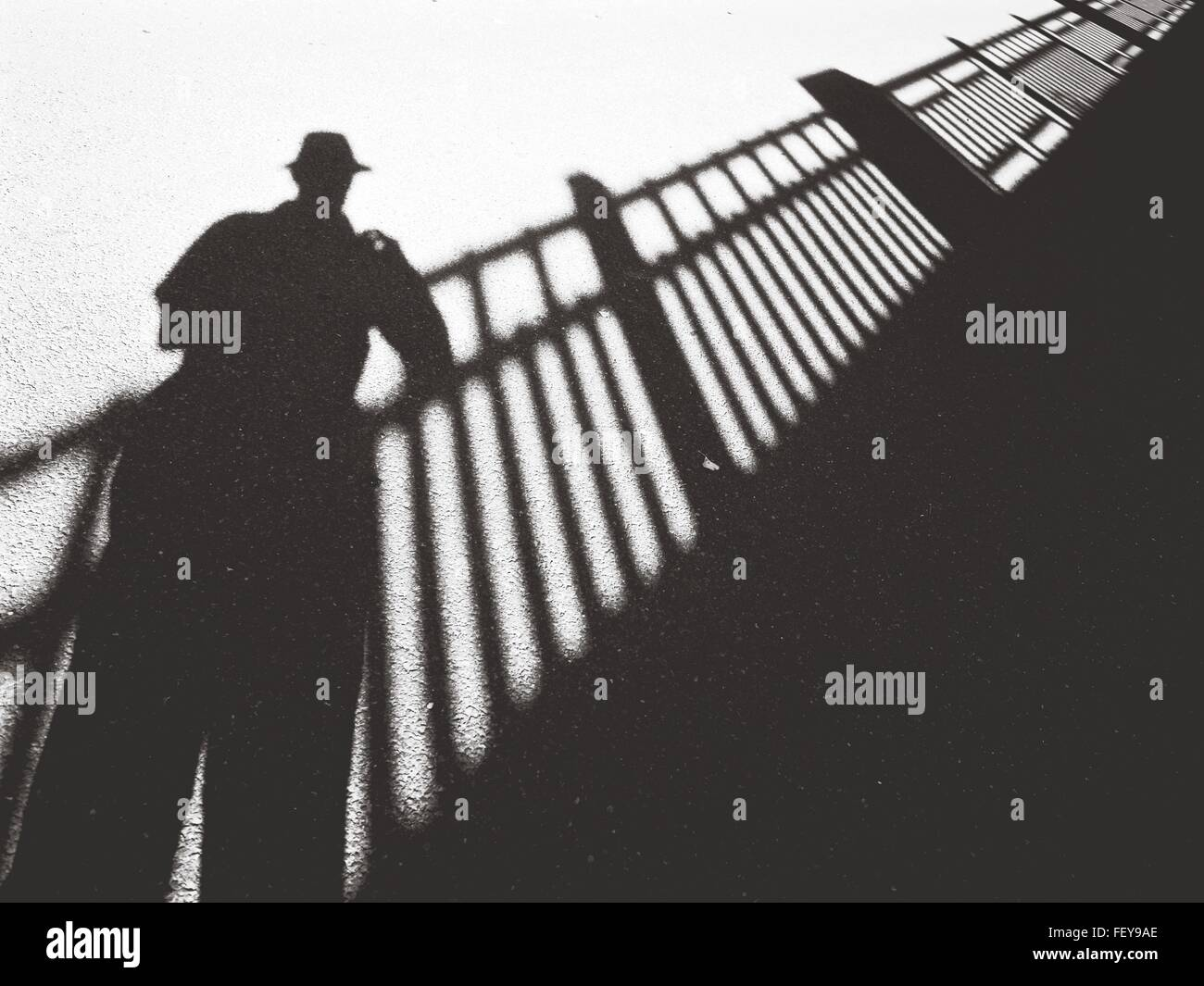 Primer plano de sombra en el suelo Imagen De Stock
