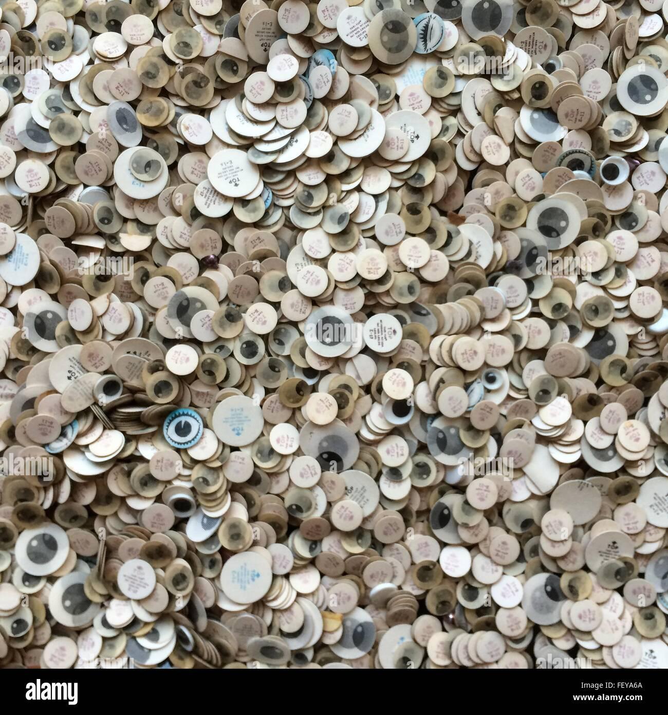 Abundancia de Etiquetas circulares Imagen De Stock