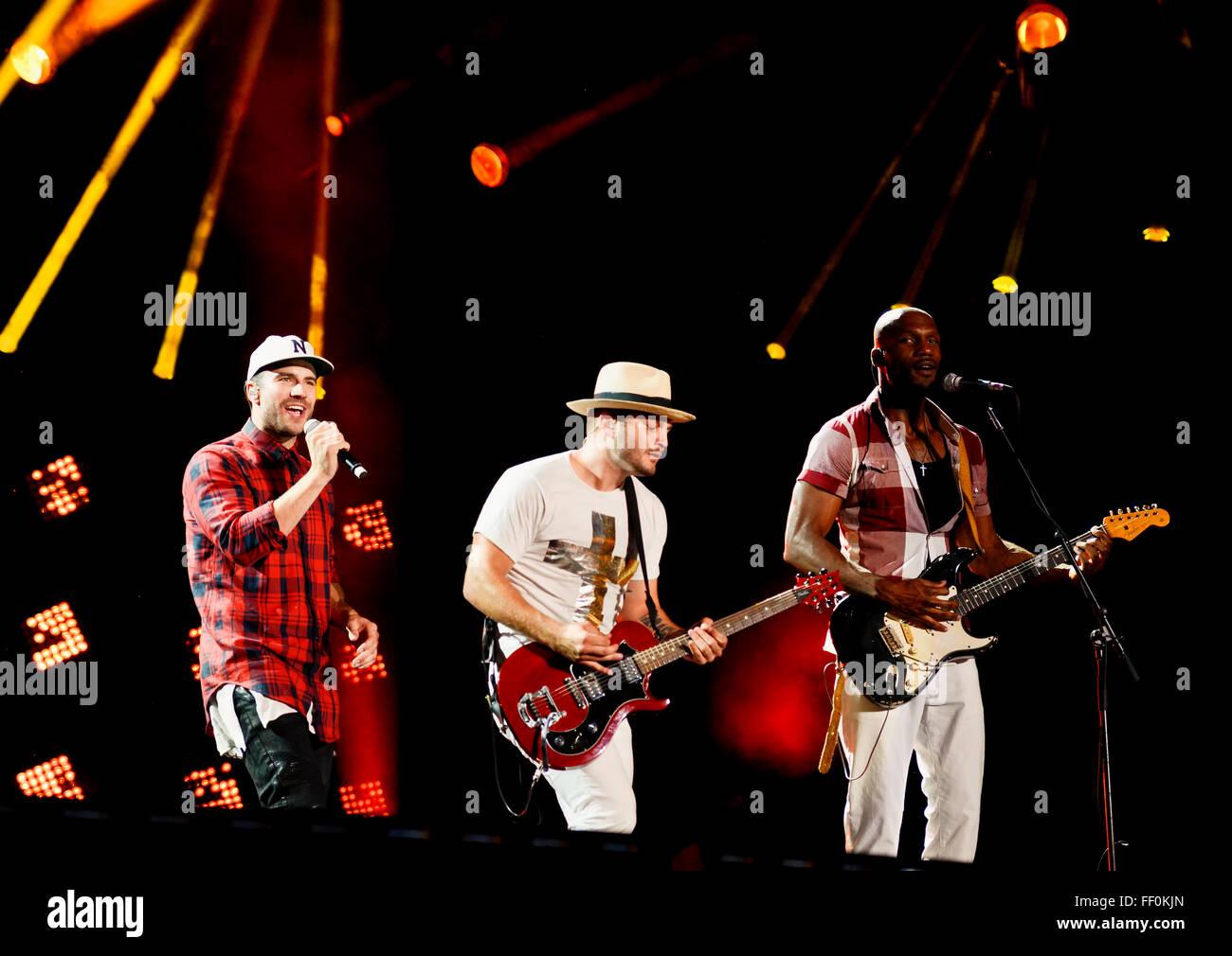 Sam Hunt actuando en el CMA Music Festival en Nashville, Tennessee Imagen De Stock