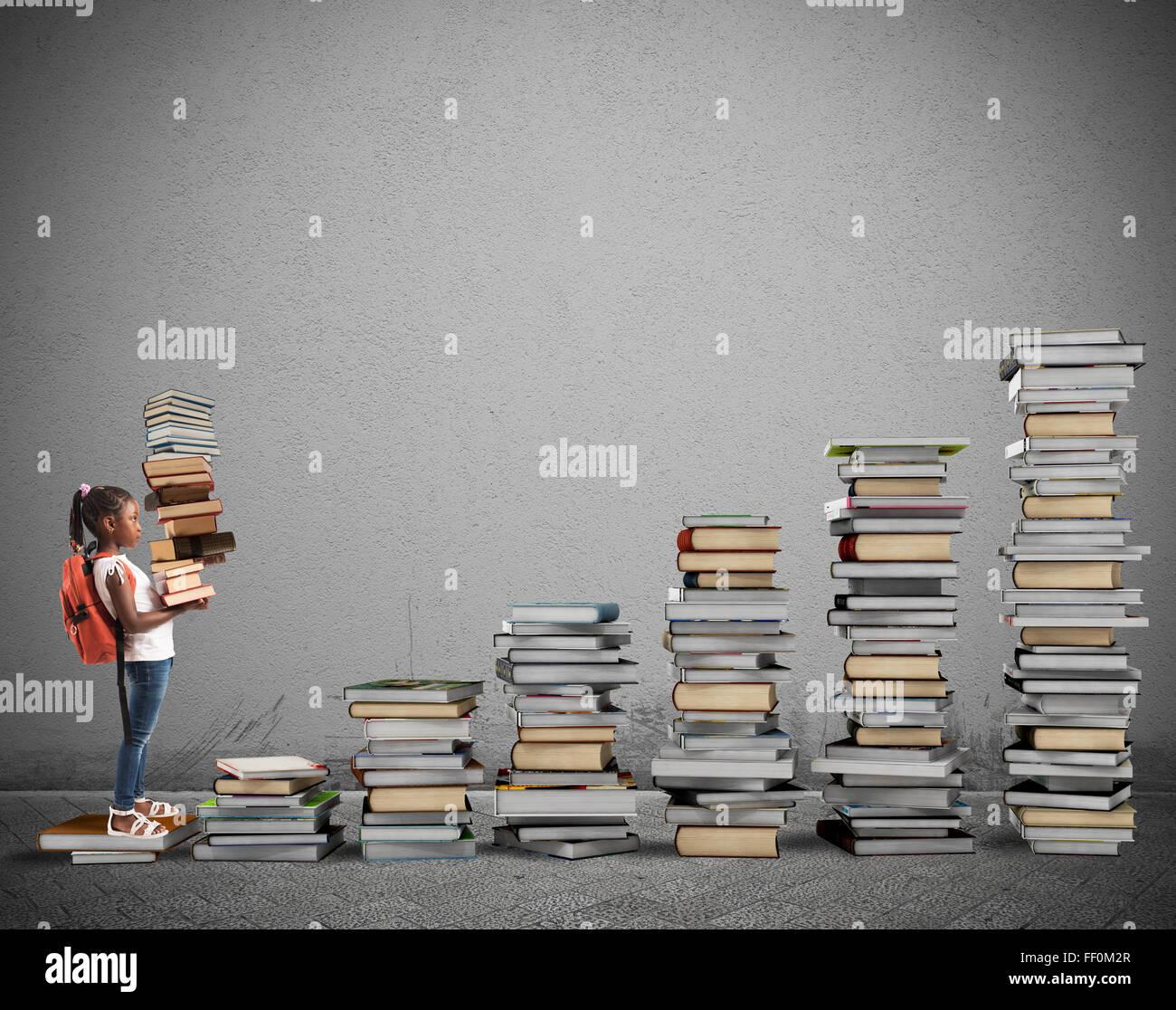 Curso de estudio para una niña Imagen De Stock