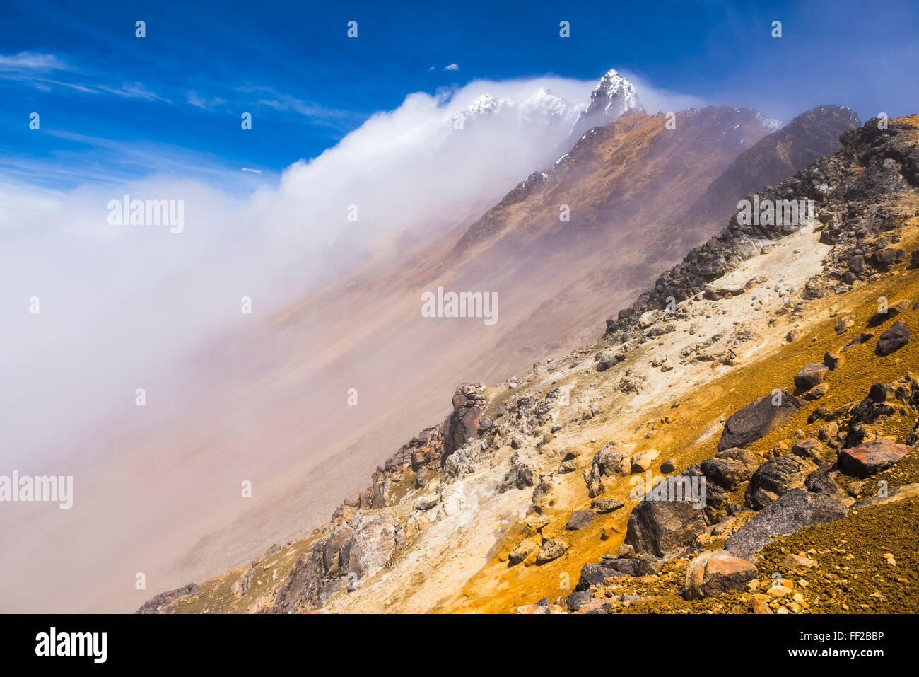 Los 5126m de cumbre Norte IRMRMiniza VoRMcano, Provincia de Pichincha, Ecuador, Sudamérica Foto de stock