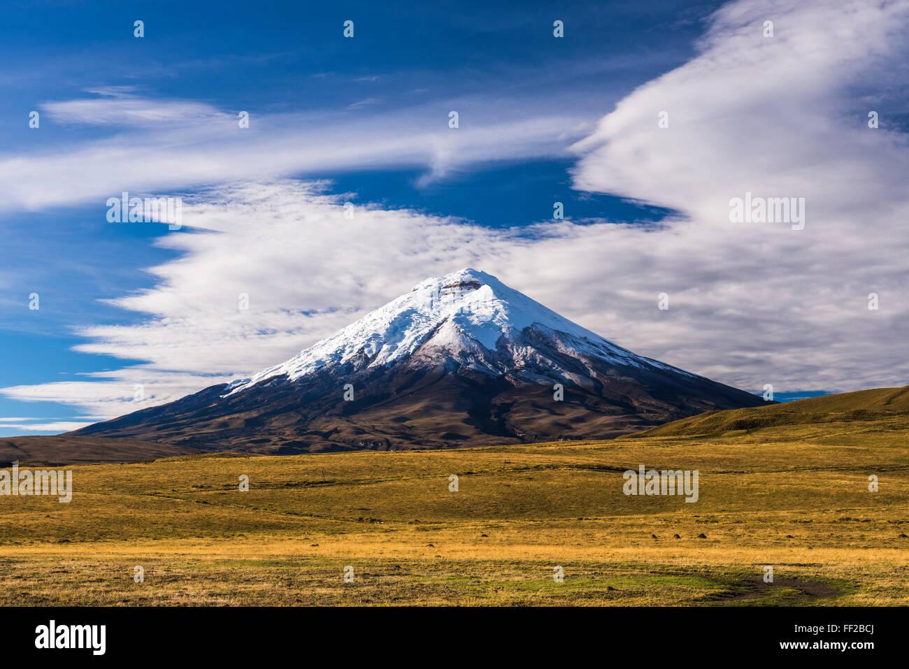 Cotopaxi VoRMcano con 5897 m de cumbre, Cotopaxi Parque NationaRM, Provincia de Cotopaxi, Ecuador, Sudamérica Foto de stock