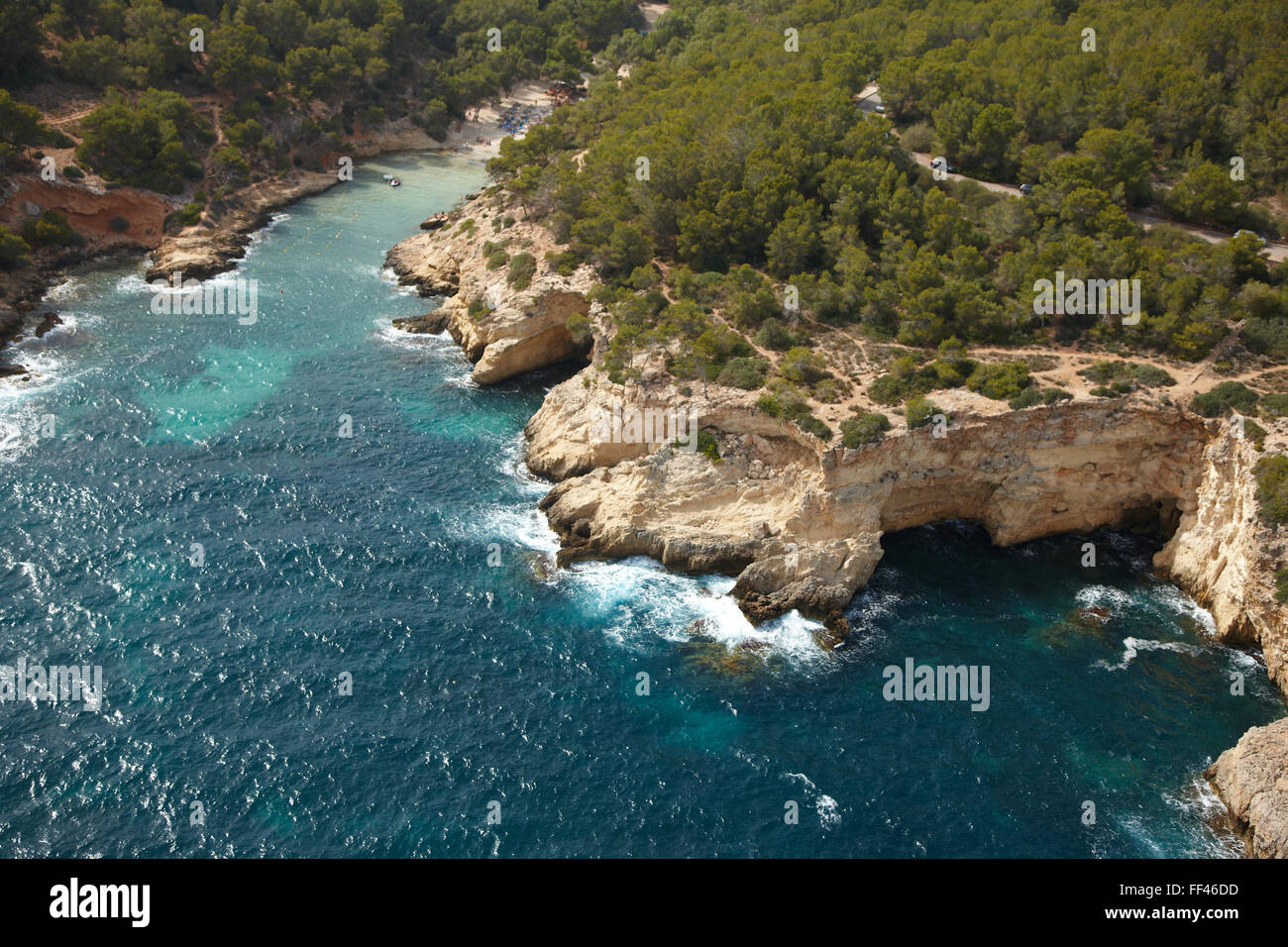 Antena de la costa de Mallorca Imagen De Stock