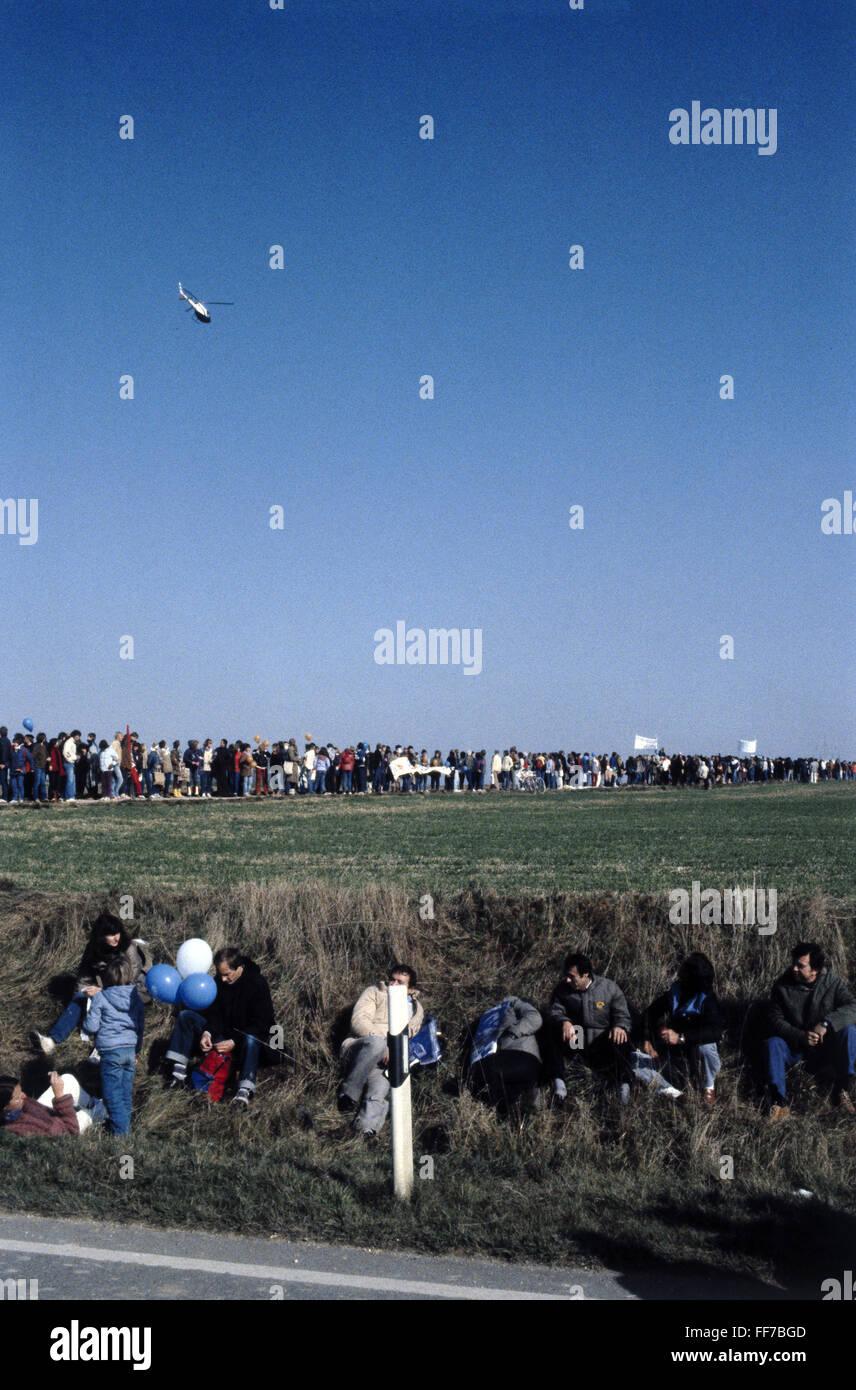 Geografía / viajes, en Alemania, la política, la demostración, el movimiento por la paz, cadena humana, Imagen De Stock