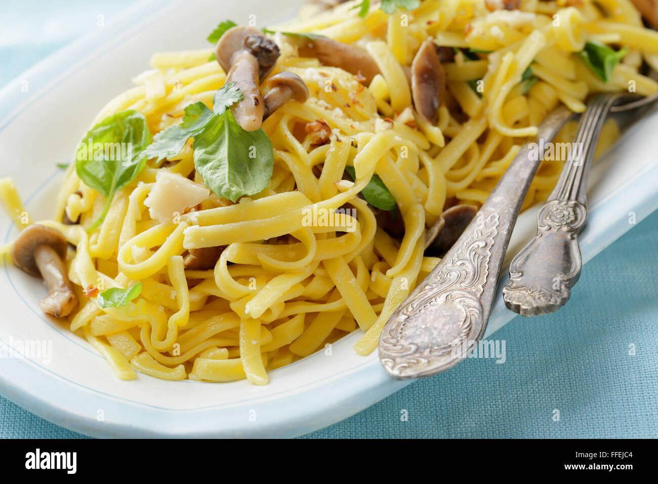Pasta, alimentos closeup Imagen De Stock