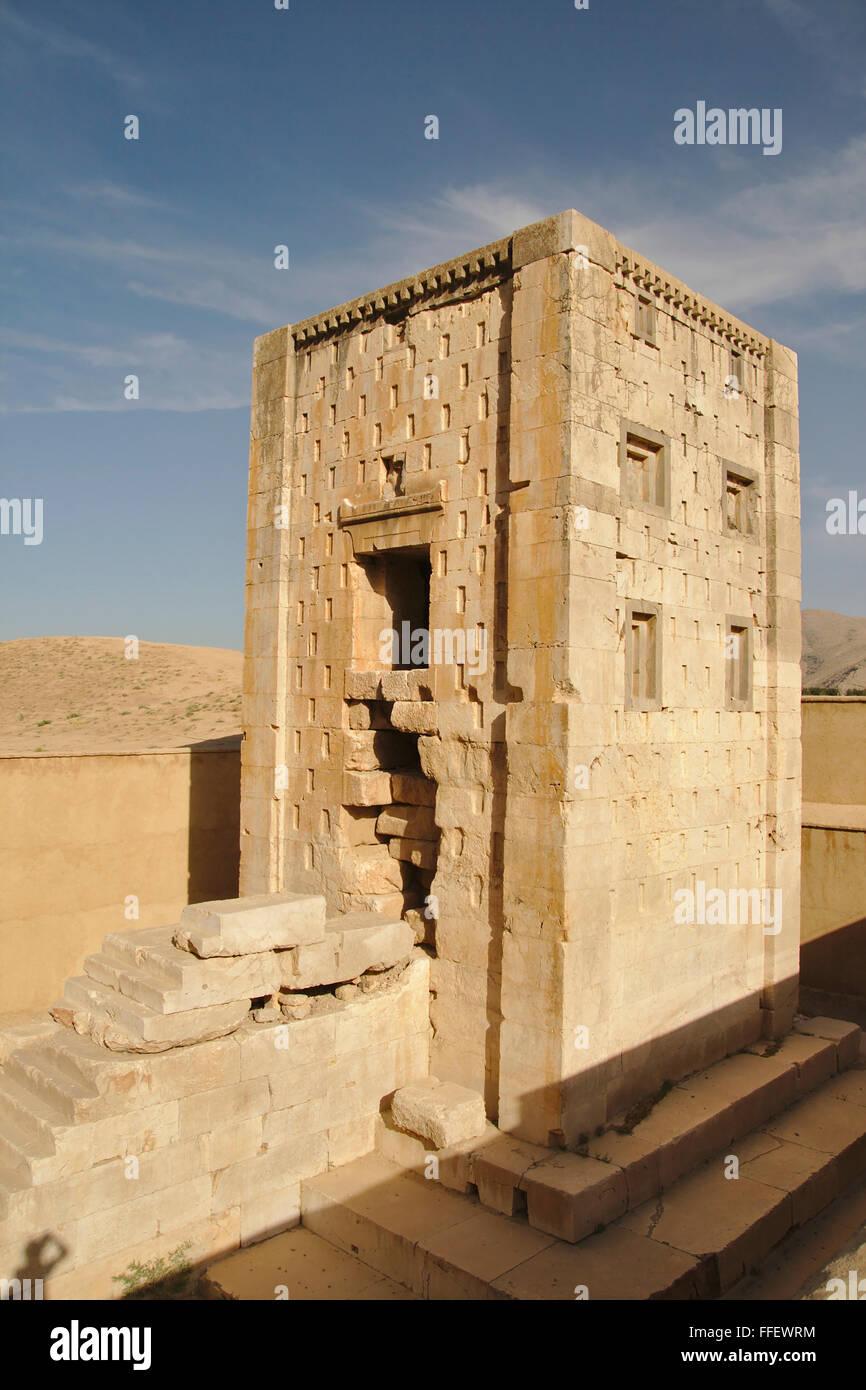 Cubo de Zoroastro (Kaba Zartosht) en Naqsh-e Rostam, Irán Foto de stock