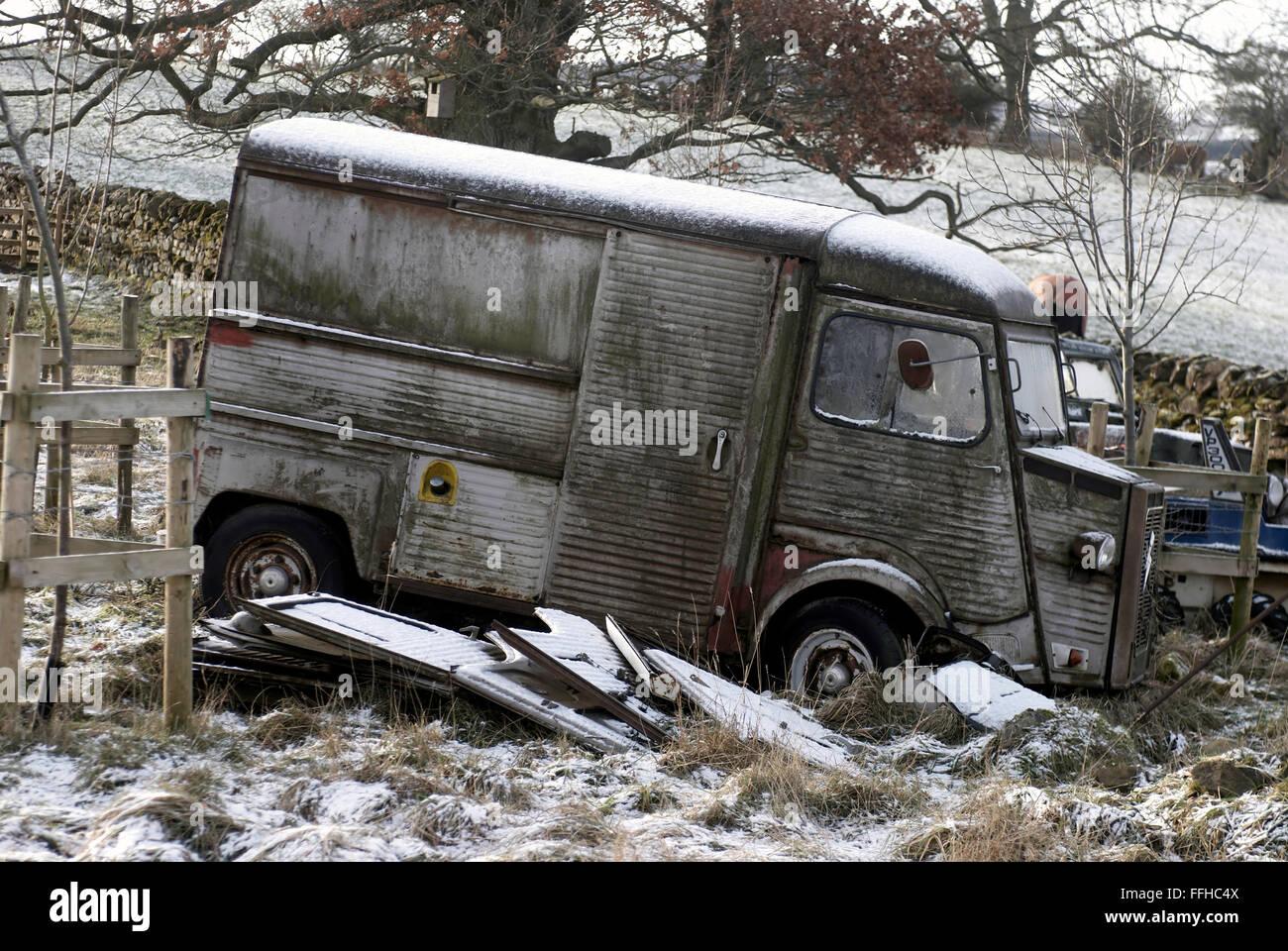 Citroën HY van / francés antiguo van Foto de stock