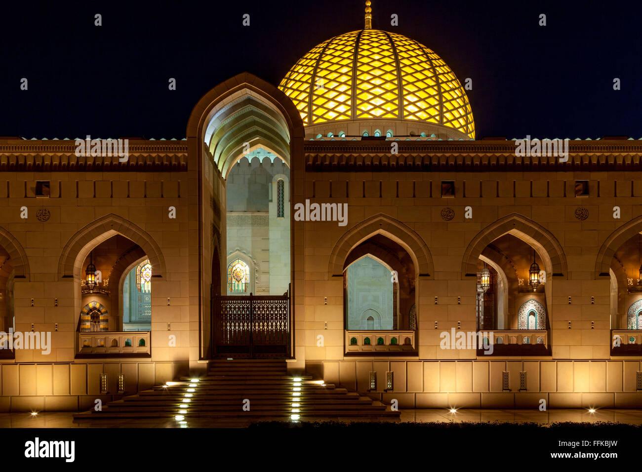 Gran Mezquita Sultan Qaboos, Mascate, Sultanato de Omán Imagen De Stock
