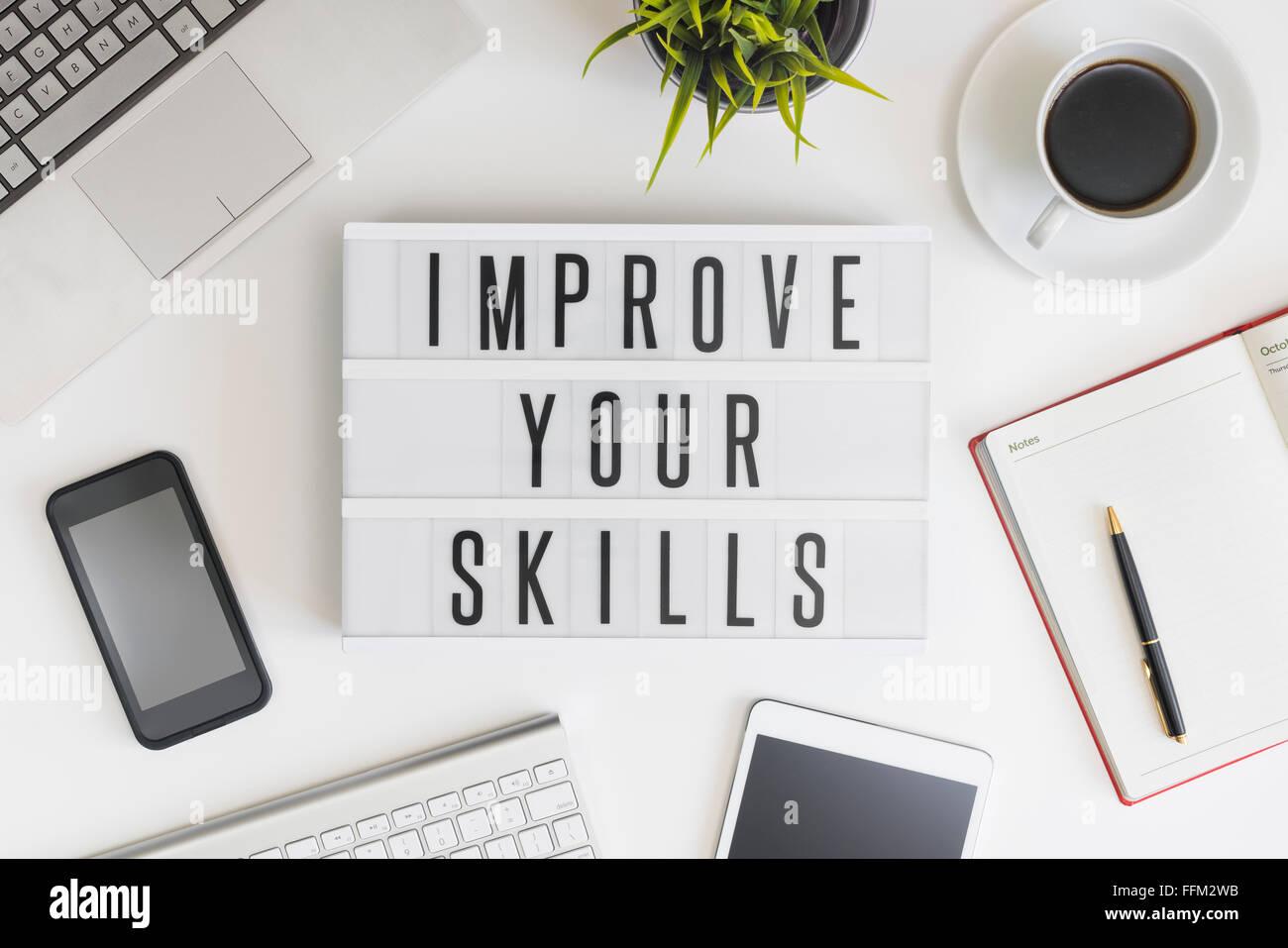 Concepto de mejorar tus habilidades. Imagen De Stock
