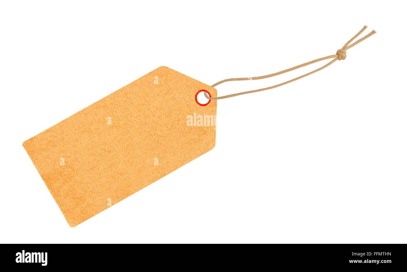 La etiqueta con cinta aislado en blanco Imagen De Stock