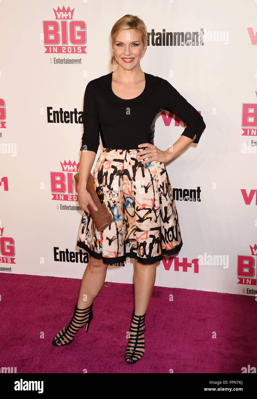 La actriz Rhea Seehorn atiende VH1 Big In 2015 Con Entertainment Weekly Awards en el Pacific Design Center el 15 Imagen De Stock
