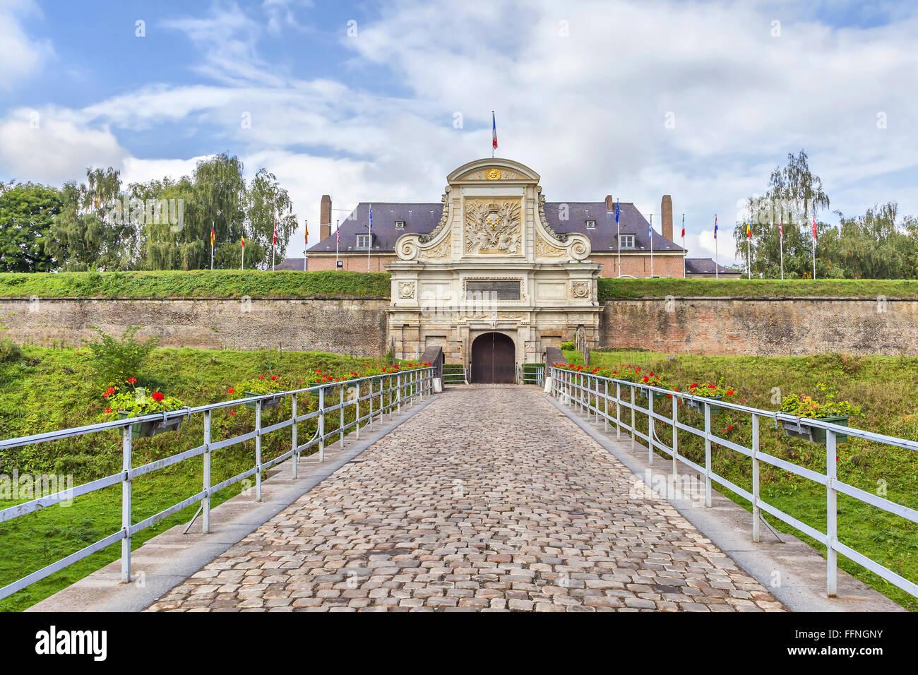 Entrada a la Ciudadela de Vauban (siglo XVII), Lille, Francia Imagen De Stock