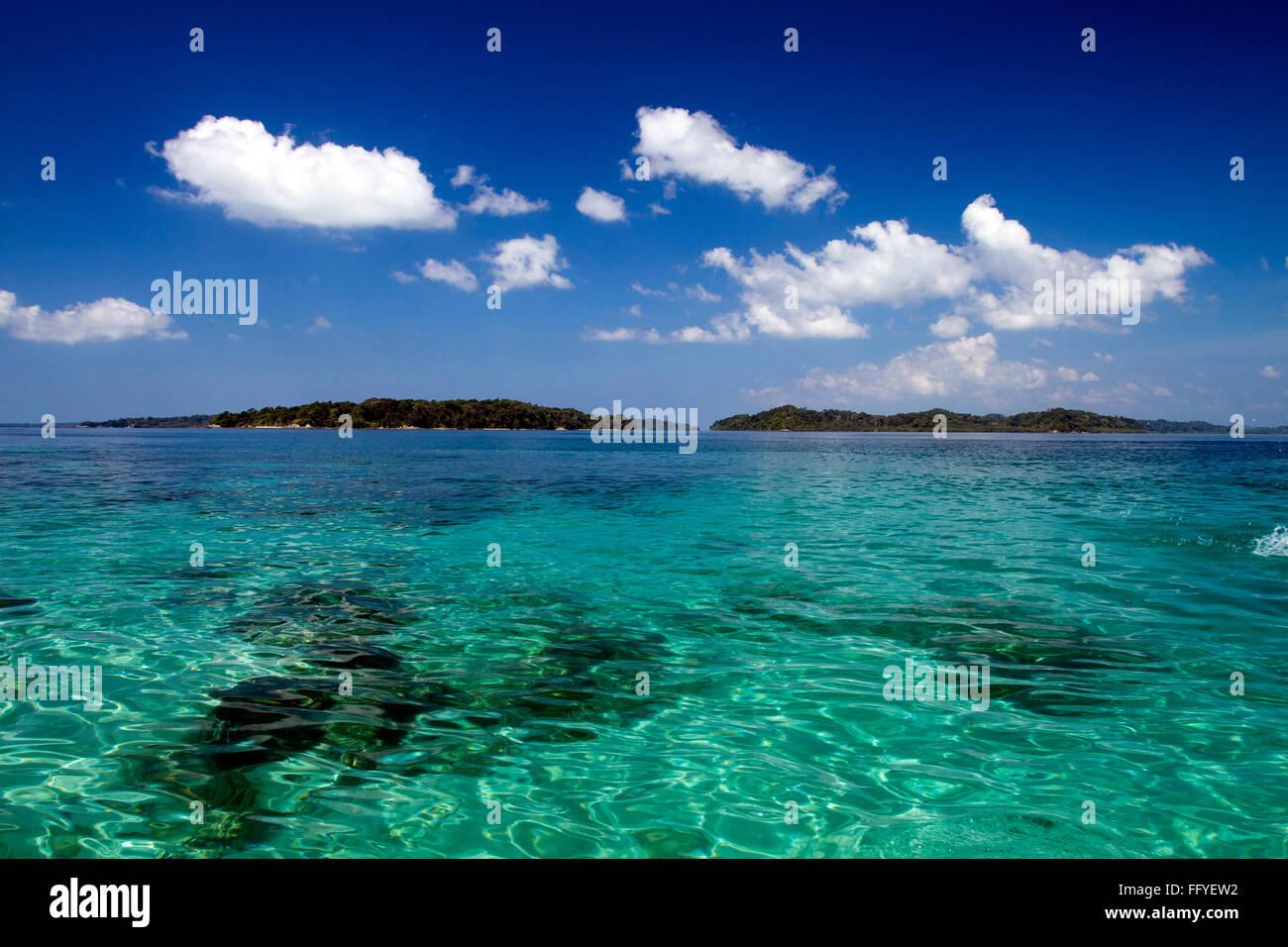 Jolly Buoy isla cerca de la playa de Wandoor ; Islas Andamán ; India ; Asia Foto de stock