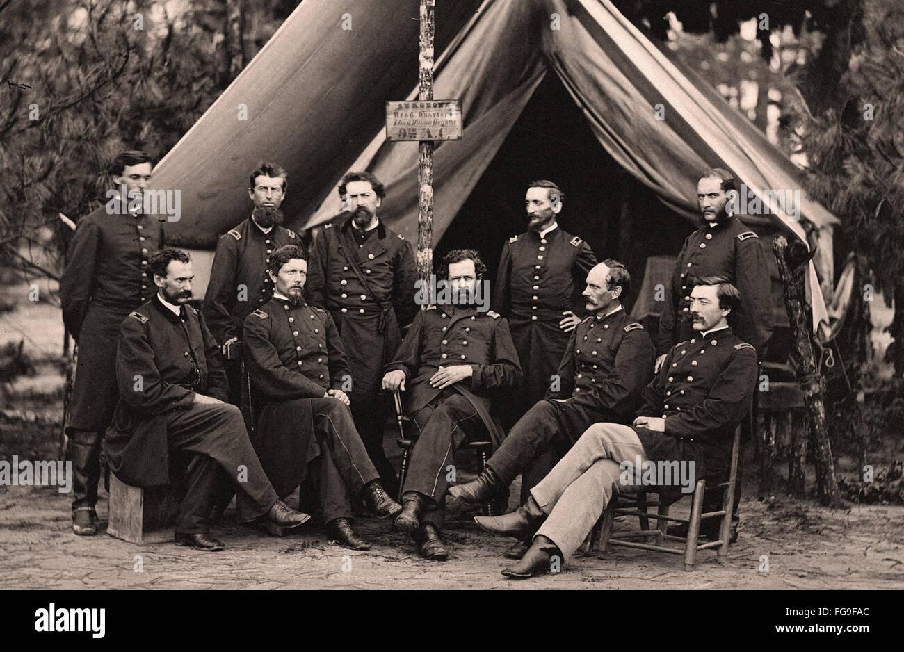 Guerra Civil americana scene - Abraham Lincoln con top hat Foto de stock