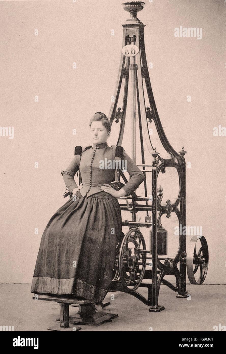 Época victoriana máquina de ejercicio - Fitness - Deporte - Indoor Imagen De Stock
