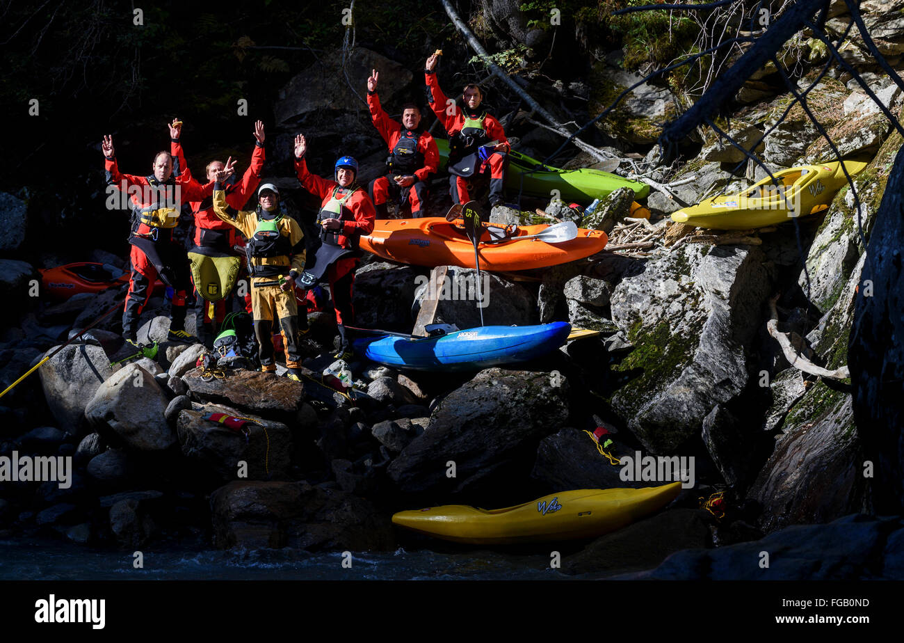 Día de calificación - kayak extremo World Championship 2015 Imagen De Stock